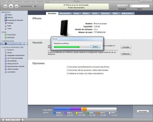 Actualización iPhone OS 3.0 2