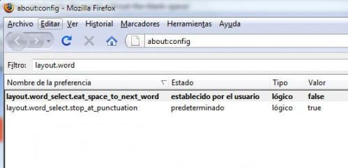 Firefox seleccionar palabra 1