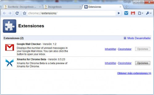 Google Chrome y sus extensiones 2