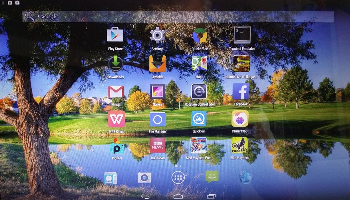 Encuentra las diferencias: este es el aspecto de un escritorio Android-x86 convencional...